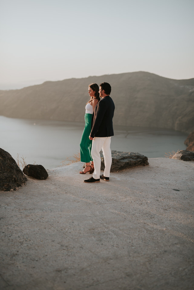 Santorini proposal photography